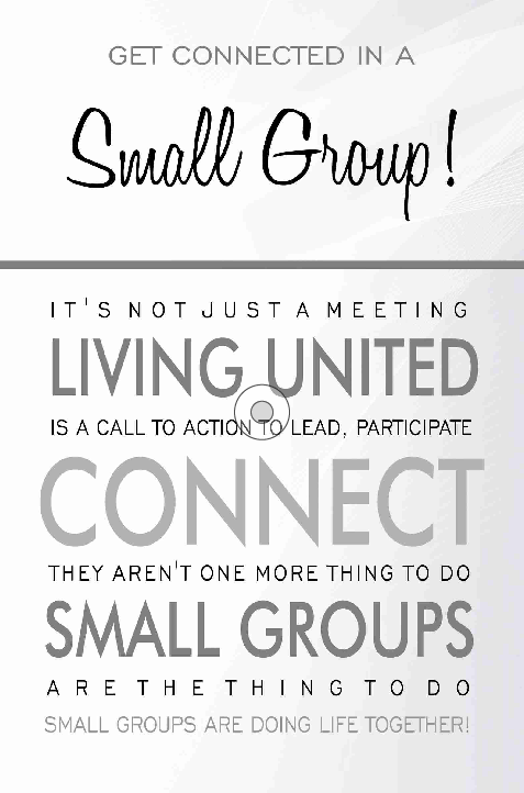 Small Group Interest Card